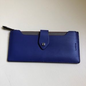 Lodis Blue and Taupe Wallet